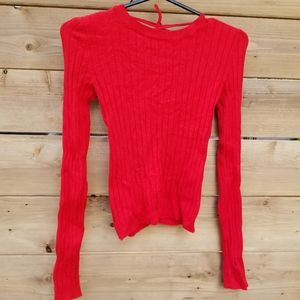 red sweater size xs